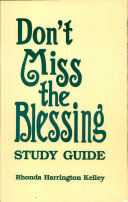 Don't Miss the Blessing Study Guide Pdf/ePub eBook