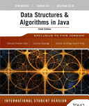 Cover of Data Structures and Algorithms in Java 6th Edition International Student Version