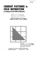 Current Patterns in Field Instruction in Graduate Social Work Education