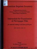 American Imprints Inventory