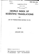 World Index of Scientific Translations and List of Translations Notified to ETC.