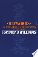 """""""Keywords: A Vocabulary of Culture and Society"""" by Raymond Williams"""