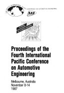 Proceedings of the Fourth International Pacific Conference on Automotive Engineering  Wednesday and Thursday