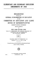 Elementary and Secondary Education Amendments of 1966