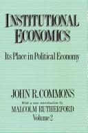 Institutional Economics  Vol  II