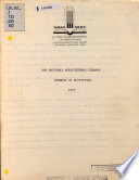 The National Agricultural Library Book