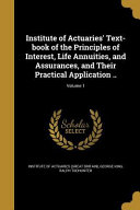 Inst Of Actuaries Text Bk Of T