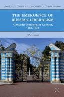 The Emergence of Russian Liberalism Pdf/ePub eBook