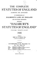 The complete statutes of England ebook
