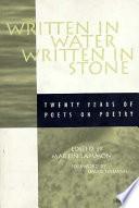 Written in Water  Written in Stone Book PDF