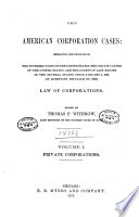 The American Corporation Cases