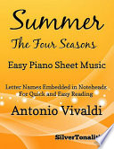 Summer Four Seasons First Movement Easy Piano Sheet Music