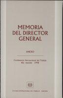 Memoria del Director General