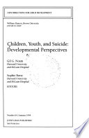 Children, Youth, and Suicide