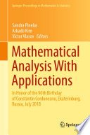 Mathematical Analysis With Applications