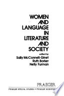 Women and Language in Literature and Society