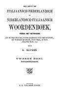 Nieuw Italiaansch-Nederlandsch en Nederlandsch-Italiaansch Woordenboek