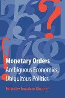Monetary Orders
