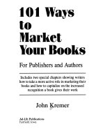 101 Ways To Market Your Books