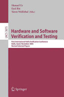 Hardware and Software  Verification and Testing Book