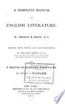 A Complete Manual of English Literature Book