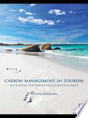 Carbon Management in Tourism