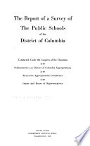 The Report of a Survey of the Public Schools of the District of Columbia Book PDF