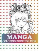 Manga Coloring Book For Kids