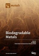Biodegradable Metals ebook