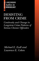 Desisting from Crime