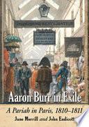 Aaron Burr in Exile Book