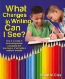 What Changes in Writing Can I See  Book