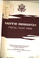 Marine Research Book