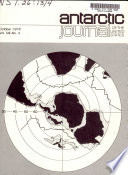 Antarctic Journal of the United States Book