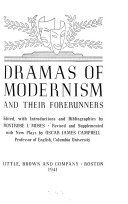 Dramas of Modernism and Their Forerunners