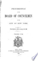 Proceedings Of The Board Of Councilmen Of The City Of New York