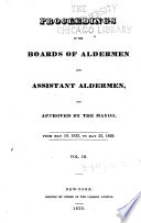 Proceedings Of The Boards Of Aldermen And Assistant Aldermen And Approved By The Mayor