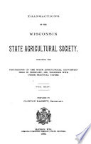 Transactions of the State Agricultural  Horticultural  Dairymen s Association and Department of Agriculture of the University  Wisconsin