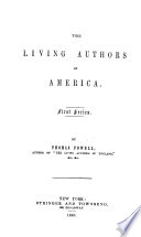 The Living Authors of America  First Series Book PDF