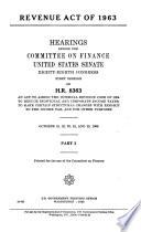 Revenue Act of 1963 Book