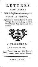 Lettres familières ebook