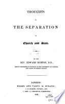 Thoughts On The Separation Of Church And State