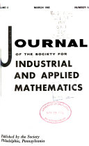 Journal of the Society for Industrial and Applied Mathematics