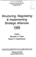 Structuring  Negotiating  and Implementing Strategic Alliances