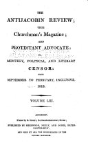 The Anti-Jacobin Review and Protestant Advocate