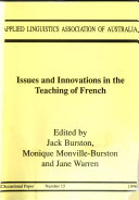 Issues and Innovations in the Teaching of French