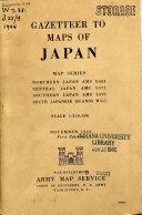 Gazetteer to Maps of Japan