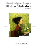 Student Solutions Manual for Mind on Statistic  Third Edition