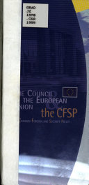 The Council of the European Union   the CFSP