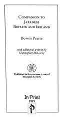 Companion to Japanese Britain and Ireland